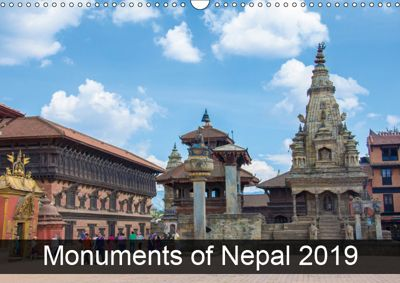 Monuments of Nepal 2019 (Wall Calendar 2019 DIN A3 Landscape), Sebastian Wallroth
