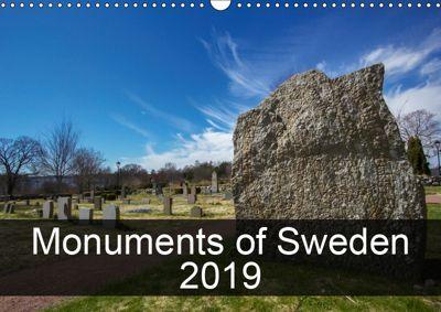 Monuments of Sweden 2019 (Wall Calendar 2019 DIN A3 Landscape), Sebastian Wallroth