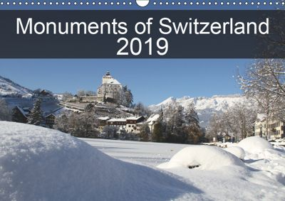 Monuments of Switzerland 2019 (Wall Calendar 2019 DIN A3 Landscape), Sebastian Wallroth