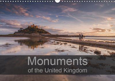 Monuments of the United Kingdom 2019 (Wall Calendar 2019 DIN A3 Landscape), Sebastian Wallroth
