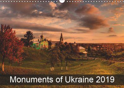 Monuments of Ukraine 2019 (Wall Calendar 2019 DIN A3 Landscape), Sebastian Wallroth