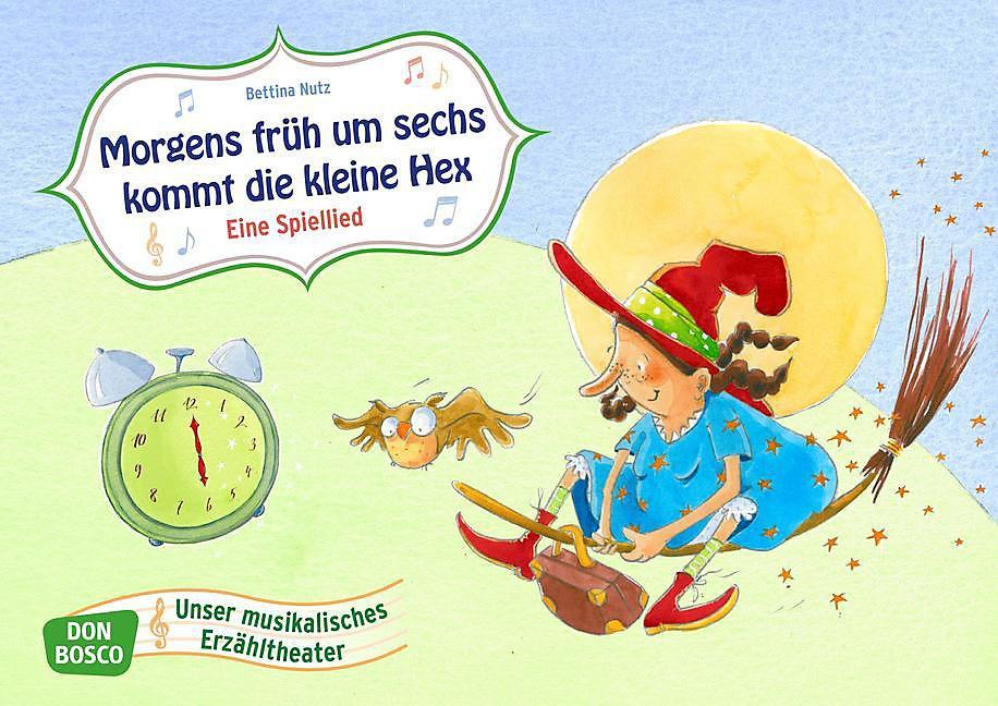 Morgens früh um sechs kommt die kleine Hex. Ein Spiellied, Kamishibai Bildkartenset | Weltbild.de