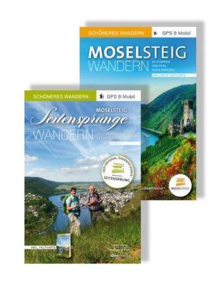Moselsteig & Seitensprünge Geschenk-Set: Die schönsten Strecken- und Rundwege an der Mosel, 2 Bde., m. 2 Karten
