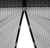 Moskitonetz mit Magnetverschluss, schwarz - Produktdetailbild 3