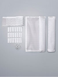 Moskitonetz mit Magnetverschluss, weiß - Produktdetailbild 3