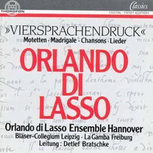 Motetten, Orlando Di Lasso Ensemble, Detlef Bratschke