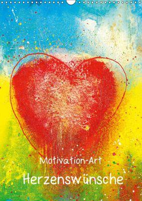 Motivation-Art Herzenswünsche (Wandkalender 2019 DIN A3 hoch), Jörg Lehmann