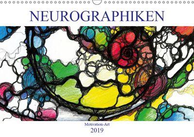 Motivation-Art - Neurographiken (Wandkalender 2019 DIN A3 quer), Jörg Lehmann
