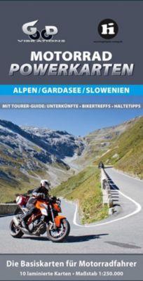 Motorrad Powerkarten Alpen / Gardasee / Slowenien