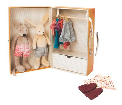 moulin roty kleiner schrank mit hase und maus. Black Bedroom Furniture Sets. Home Design Ideas