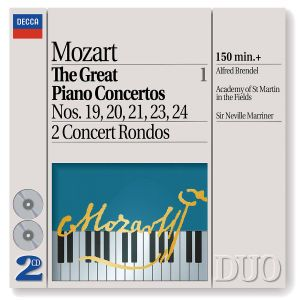 Mozart: The Great Piano Concertos, Vol.1, Alfred Brendel, Neville Marriner, Amf