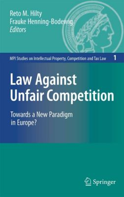 MPI Studies on Intellectual Property and Competition Law: Law Against Unfair Competition