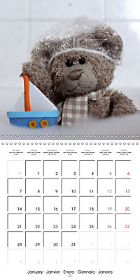 Mr. Bud, the cute bear (Wall Calendar 2019 300 × 300 mm Square) - Produktdetailbild 1