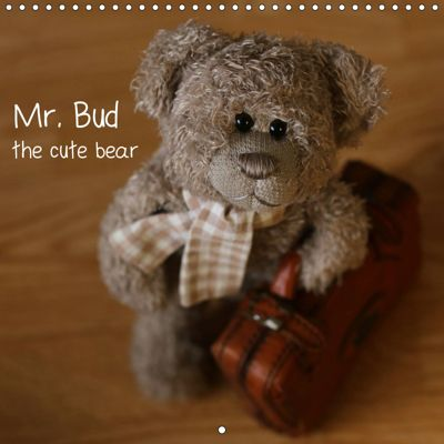 Mr. Bud, the cute bear (Wall Calendar 2019 300 × 300 mm Square), Michaela Kanthak