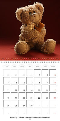 Mr. Bud, the cute bear (Wall Calendar 2019 300 × 300 mm Square) - Produktdetailbild 2