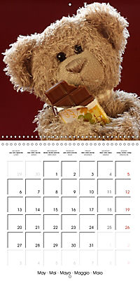 Mr. Bud, the cute bear (Wall Calendar 2019 300 × 300 mm Square) - Produktdetailbild 5