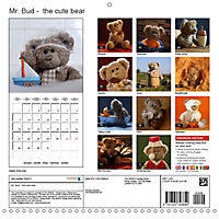 Mr. Bud, the cute bear (Wall Calendar 2019 300 × 300 mm Square) - Produktdetailbild 13