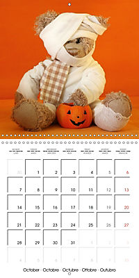 Mr. Bud, the cute bear (Wall Calendar 2019 300 × 300 mm Square) - Produktdetailbild 10