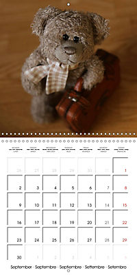 Mr. Bud, the cute bear (Wall Calendar 2019 300 × 300 mm Square) - Produktdetailbild 9