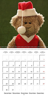 Mr. Bud, the cute bear (Wall Calendar 2019 300 × 300 mm Square) - Produktdetailbild 12