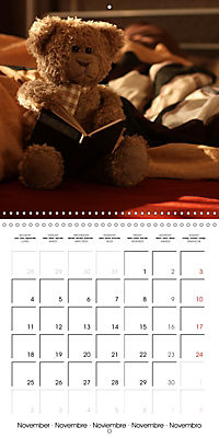 Mr. Bud, the cute bear (Wall Calendar 2019 300 × 300 mm Square) - Produktdetailbild 11