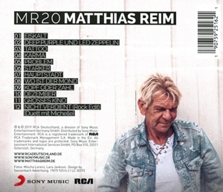 Mr20 Cd Von Matthias Reim Jetzt Online Bei Weltbildch Bestellen