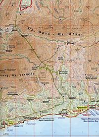 Mt. Thriptis -  Mt. Orno - Sitia - Zakros - Vai 1 : 50 000 - Produktdetailbild 2