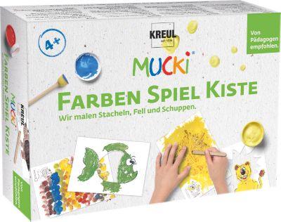 MUCKI Farben Spiel Kiste Wir malen Stacheln, Fell und Schuppen
