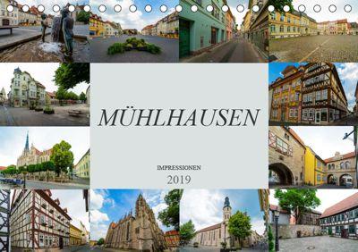 Mühlhausen Impressionen (Tischkalender 2019 DIN A5 quer), Dirk Meutzner