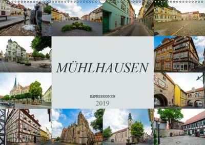 Mühlhausen Impressionen (Wandkalender 2019 DIN A2 quer), Dirk Meutzner