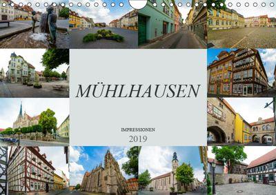 Mühlhausen Impressionen (Wandkalender 2019 DIN A4 quer), Dirk Meutzner