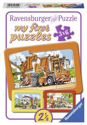 Müllabfuhr, Krankenwagen, Abschleppwagen My first puzzle - Rahmenpuzzle