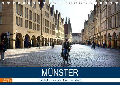 Münster - die liebenswerte Fahrradstadt (Tischkalender 2019 DIN A5 quer), Thomas Bartruff