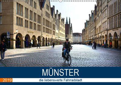 Münster - die liebenswerte Fahrradstadt (Wandkalender 2019 DIN A2 quer), Thomas Bartruff