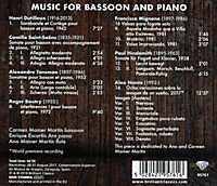 Music For Bassoon And Piano - Produktdetailbild 1