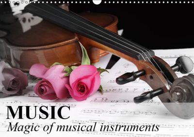 Music Magic of musical instruments (Wall Calendar 2019 DIN A3 Landscape), Elisabeth Stanzer