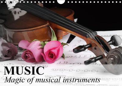 Music Magic of musical instruments (Wall Calendar 2019 DIN A4 Landscape), Elisabeth Stanzer