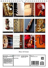 Music / UK-Version (Wall Calendar 2019 DIN A4 Portrait) - Produktdetailbild 13