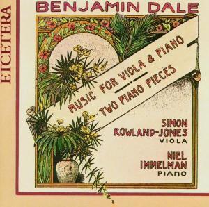 Musik Für Viola Und Klavier, S. Rowland-jones, N. Immelman