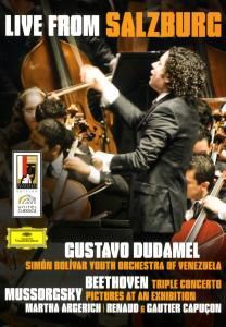 Mussorgsky: Pictures at an exhibition / Beethoven: Triple Concerto in C, Op.56, Overture, Gustavo Dudamel, Martha Argerich