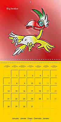 My crazy family - Naughty birds (Wall Calendar 2019 300 × 300 mm Square) - Produktdetailbild 1
