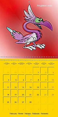 My crazy family - Naughty birds (Wall Calendar 2019 300 × 300 mm Square) - Produktdetailbild 2