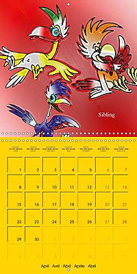 My crazy family - Naughty birds (Wall Calendar 2019 300 × 300 mm Square) - Produktdetailbild 4
