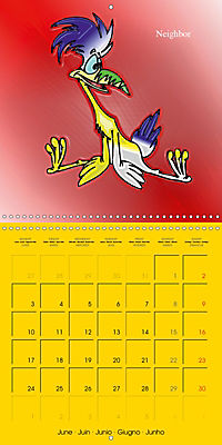 My crazy family - Naughty birds (Wall Calendar 2019 300 × 300 mm Square) - Produktdetailbild 6