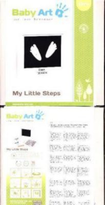 My Little Steps - Window Sculpture Frame, White, Baby Art