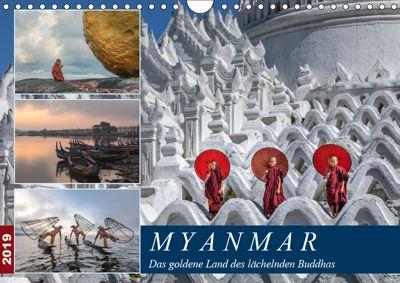 Myanmar, das goldene Land des lächelnden Buddhas (Wandkalender 2019 DIN A4 quer), Joana Kruse