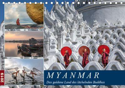 Myanmar, das goldene Land des lächelnden Buddhas (Tischkalender 2019 DIN A5 quer), Joana Kruse