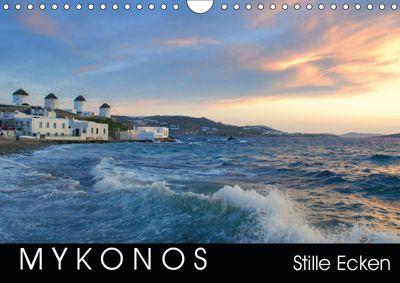 Mykonos - Stille Ecken (Wandkalender 2019 DIN A4 quer), Katrin Manz
