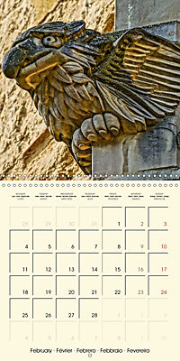 Mysterious creatures Gargoyles and Chimeras (Wall Calendar 2019 300 × 300 mm Square) - Produktdetailbild 2