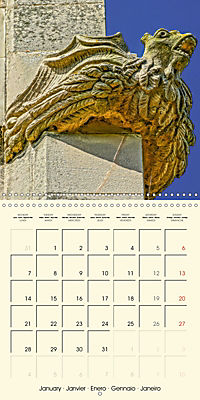 Mysterious creatures Gargoyles and Chimeras (Wall Calendar 2019 300 × 300 mm Square) - Produktdetailbild 1